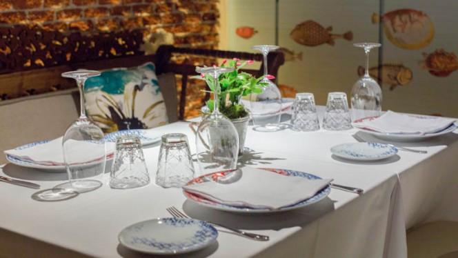 Detalle mesa - El Barril de las Cortes, Madrid