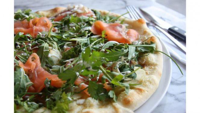 Pizza Salmone - Bar Spek, Amsterdam