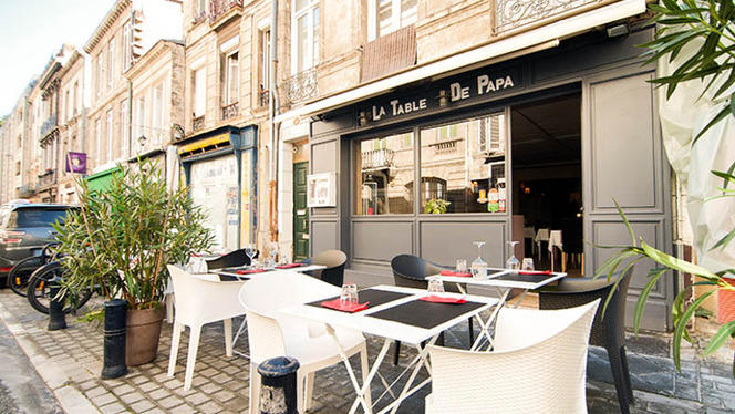 Devanture - La Table de Papa, Bordeaux