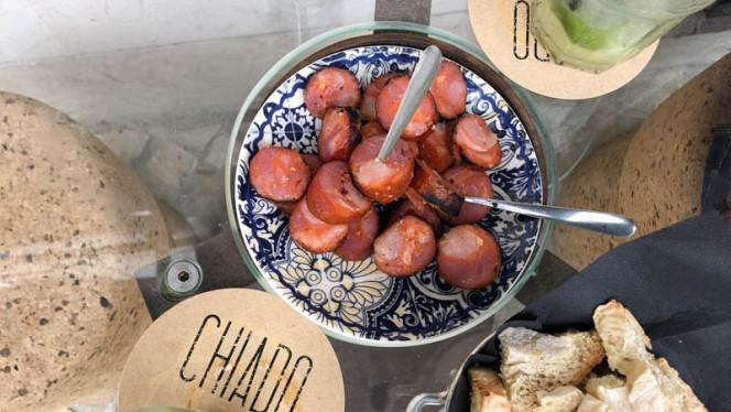 Chouriço assado - Chiado Wine Bar, Lisboa