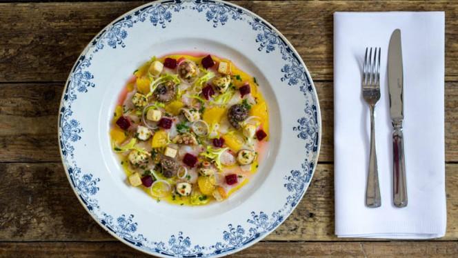 Zwaardvis ceviche - Restaurant Tasca, Den Haag