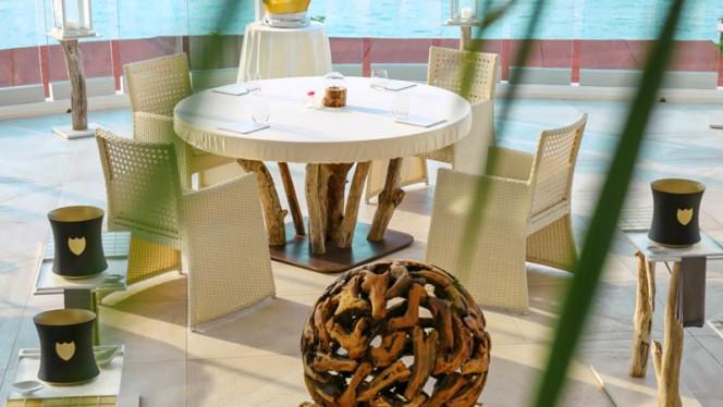 Terrraza del restaurante - els Brancs - Hotel Vistabella, Roses