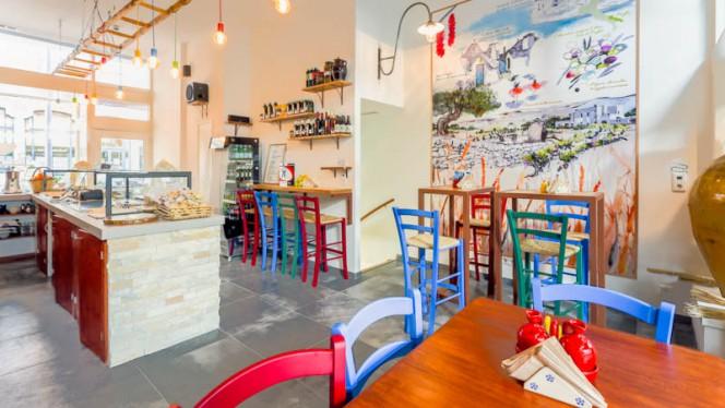 Sittings and artist paint - Panzero' Apulian StrEat Food, Rotterdam