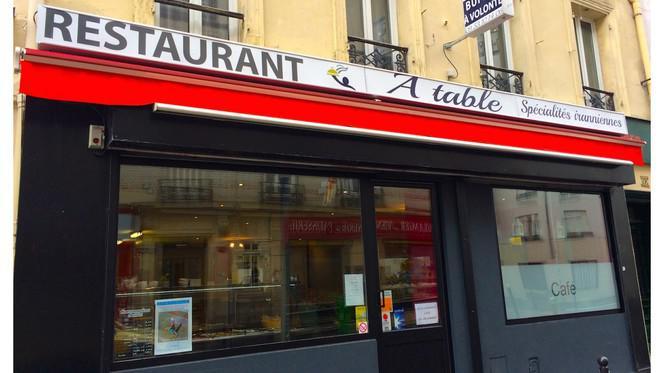 Devanture - A-Table, Paris