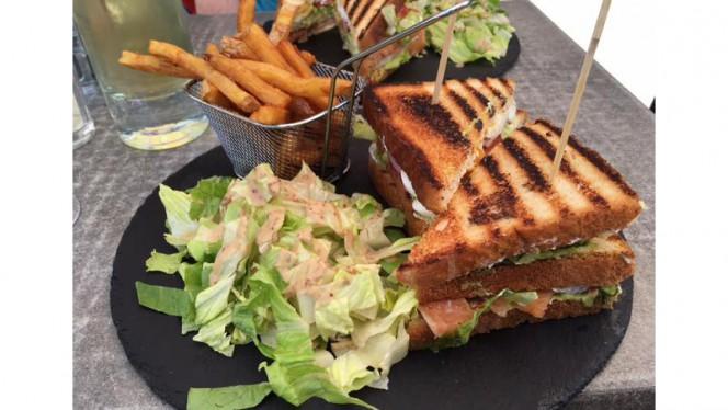 club sandwich saumon - La Mouss'Tache Vieux Lyon, Lyon
