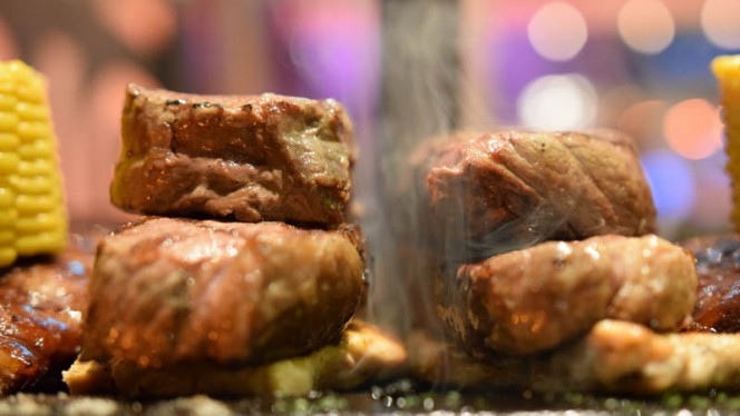 Charcoal grill steak at The Big Apple - The Big Apple, Amsterdam