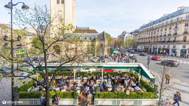 Vue de la terrasse - Les Deux Magots, Paris-6E-Arrondissement