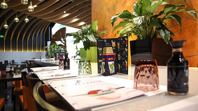 Vue des tables - Tokami Gramont, Toulouse