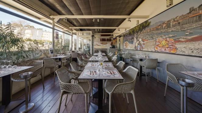 Vue de la salle - Au Poisson Gourmand, Marseille