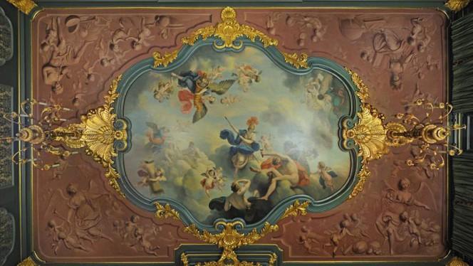 Plafondschilderijen van onze Grote Stijlkamer uit 1744 - Museumrestaurant Tassenmuseum, Amsterdam
