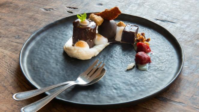 Chocolade dessert - Aandacht voor Eten Restaurant, Utrecht