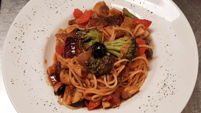Spaghetti met Groenten - La Santa Maria International Dinner, Amsterdam
