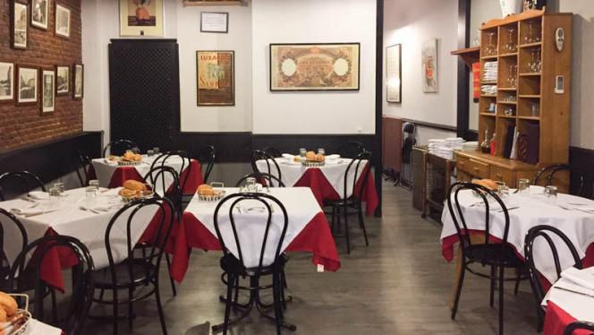 Vista sala - Trattoria Vecchia Milano, Madrid