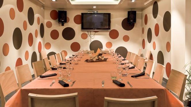 Vista sala privada - Casa Flores, Sabadell