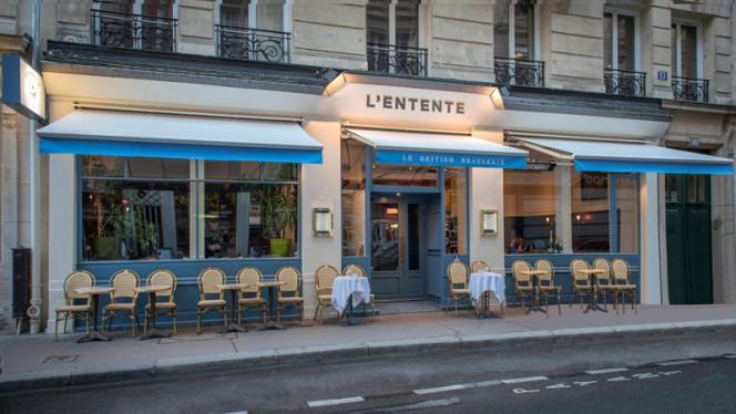 Devanture - L'Entente Le British Brasserie, Paris
