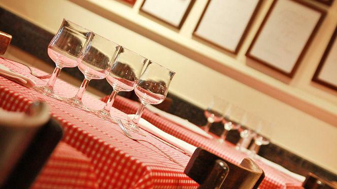 Detalle decoración de mesa - Piazze d'Italia, Barcelona