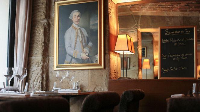 Détail intérieur du restaurant - A Casaluna, Paris