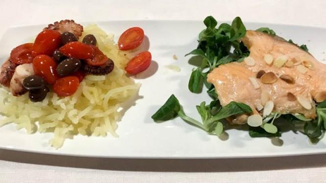 Antipasto salmone e polipo - Rustichello,