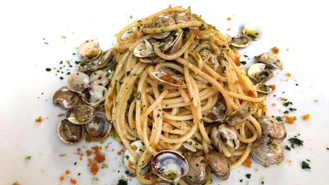 Spaghettone con Lupini, Bottarga, Lime - L'Acqua Salata, Civitavecchia