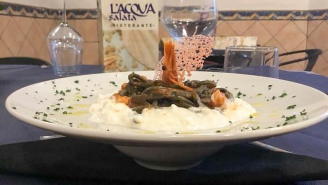 Tagliolino Nero, gambero Rosso e Burrata - L'Acqua Salata, Civitavecchia