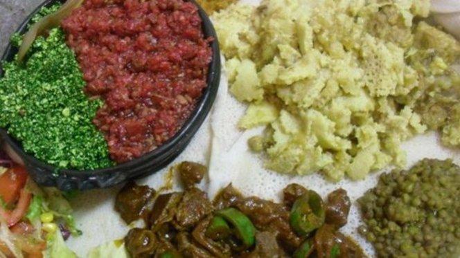 misto di salse, lenticchie, carne e pane - Zighini, Rome