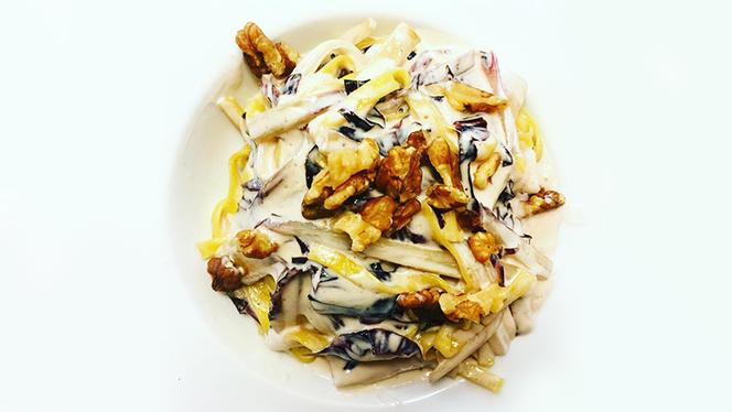 Tagliolini radicchio, noci e crema di mascarpone - Il Bernino, Lucca
