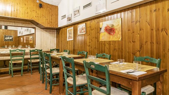 Sala del ristorante - Hostaria San Carlino, Bologna