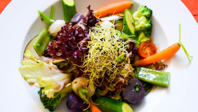 Verduras cocidas y crujietnes - Mas Ses Vinyes, Begur