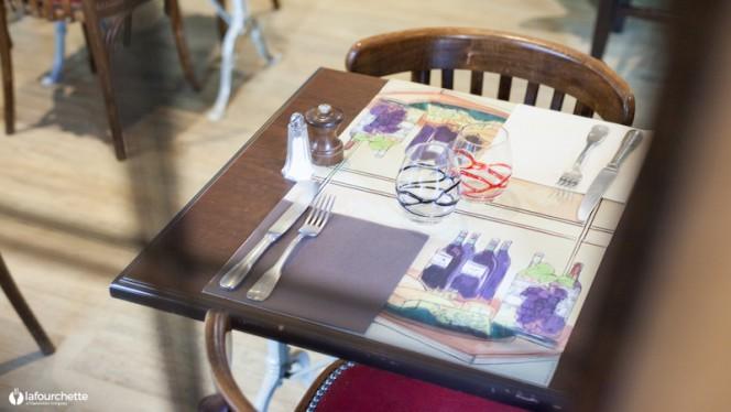 table dressée - Le Bistrot de Montchat, Lyon
