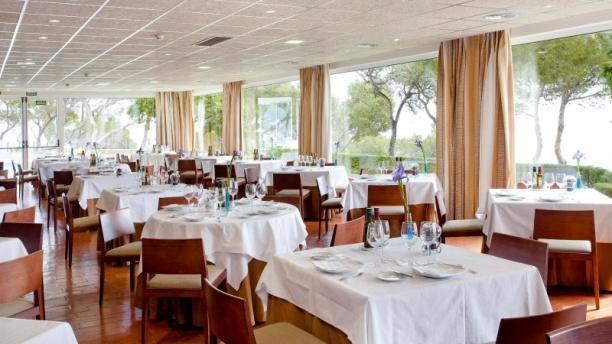 Vista interior - Restaurante Parador de Aiguablava, Begur