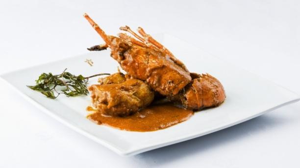Pollo con langosta - Restaurante Parador de Aiguablava, Begur