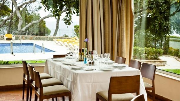Vista mesa - Restaurante Parador de Aiguablava, Begur