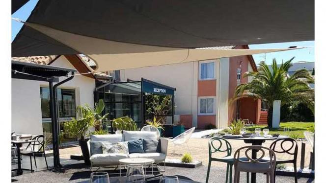 Terrasse extérieure - La Table de L'Initial, Toulouse