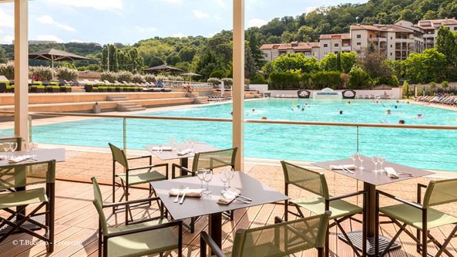 Vue de la terrasse - Brasserie Lyon Plage - Hôtel Lyon Métropole, Lyon