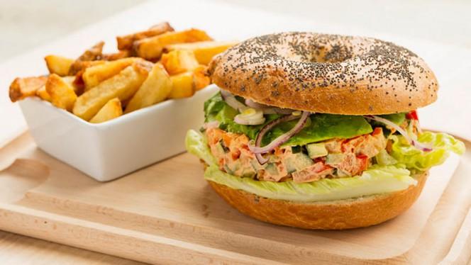 Bagel végétarien - K&B Restaurant at Courtyard, Toulouse