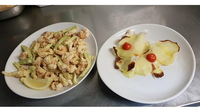 Frittura di mare e orata con patate - La Tavernetta, Imola