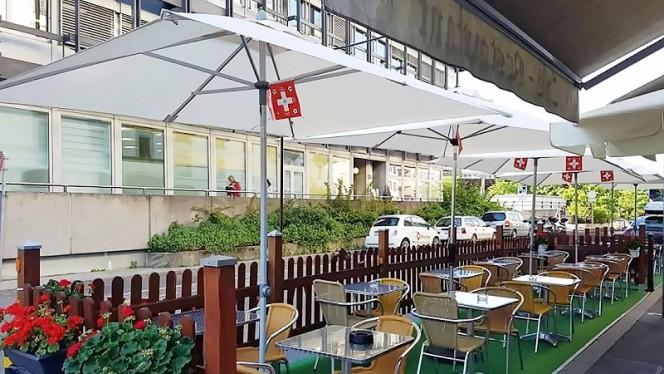 """Vue de la terrasse - Le Galicia """"Chez Lili"""", Genève"""