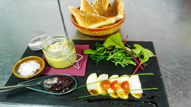 foie gras maison , toast et confiture de figues - Là-Bas, Calpe