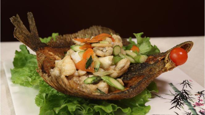 pesce frito - China Gourmet, Milan