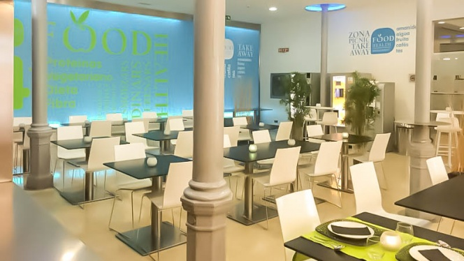Vista sala - Food Health, Barcelona