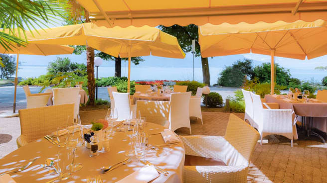 Restaurante Café Bellagio Royal Plaza Montreux Spa En